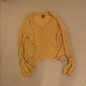 yellow vneck sweater
